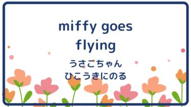 miffy goes flying (邦題 : うさこちゃんひこうきにのる)